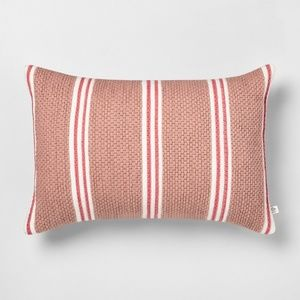 Hearth & Hand Stripe oblong pillow dusty rose pink